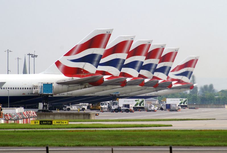 british-airways-line-of-planes-riot