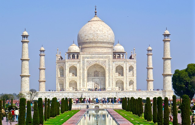 Constructed using ivory-white marble, the Taj Mahal is a crash course in Mughal architecture. The maosoleum is   also the eighth most popular tourist destination in the world.