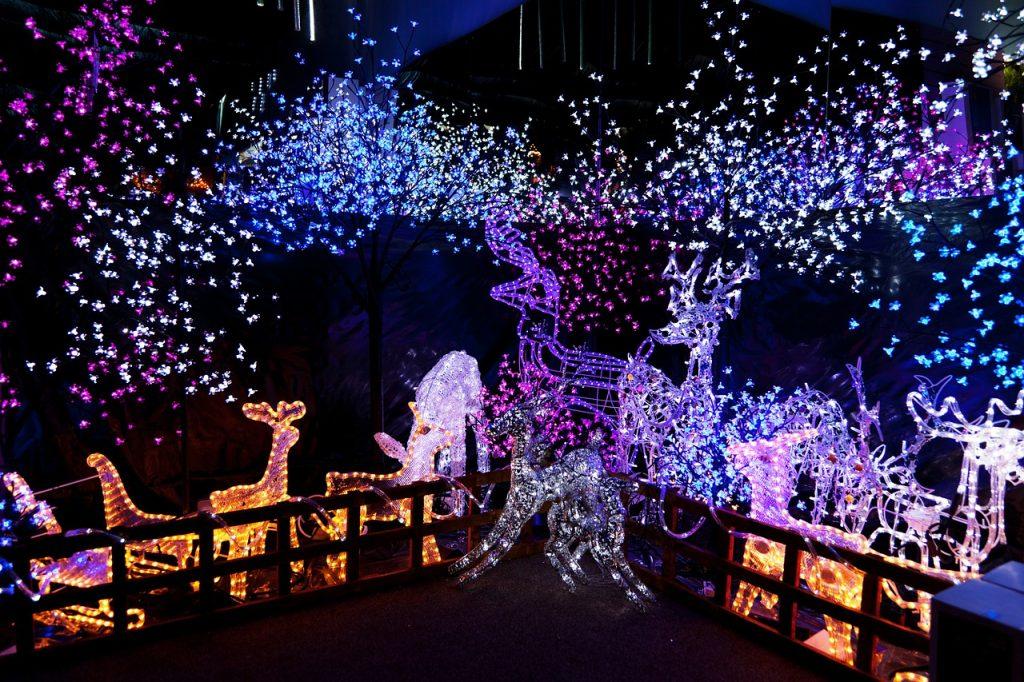 Christmas light displays.
